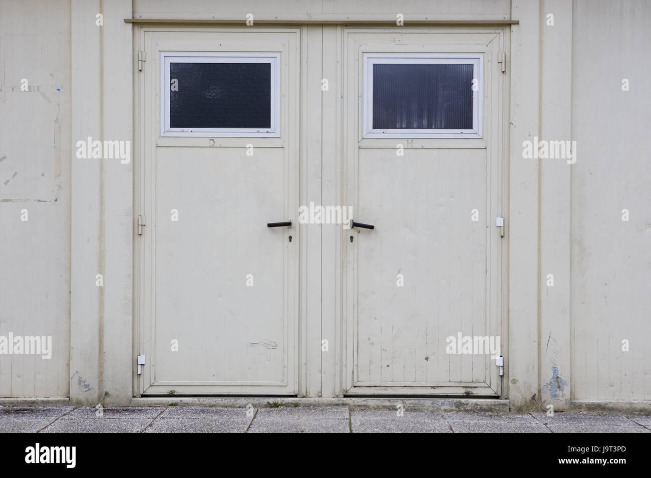 Factory buildingdoorsclosedbuildingoldwhitefacademetal doorsiron doorsdouble doorinputexiton the lefton the rightconceptionchoicedecision ... & Factory buildingdoorsclosedbuildingoldwhitefacademetal Stock ...