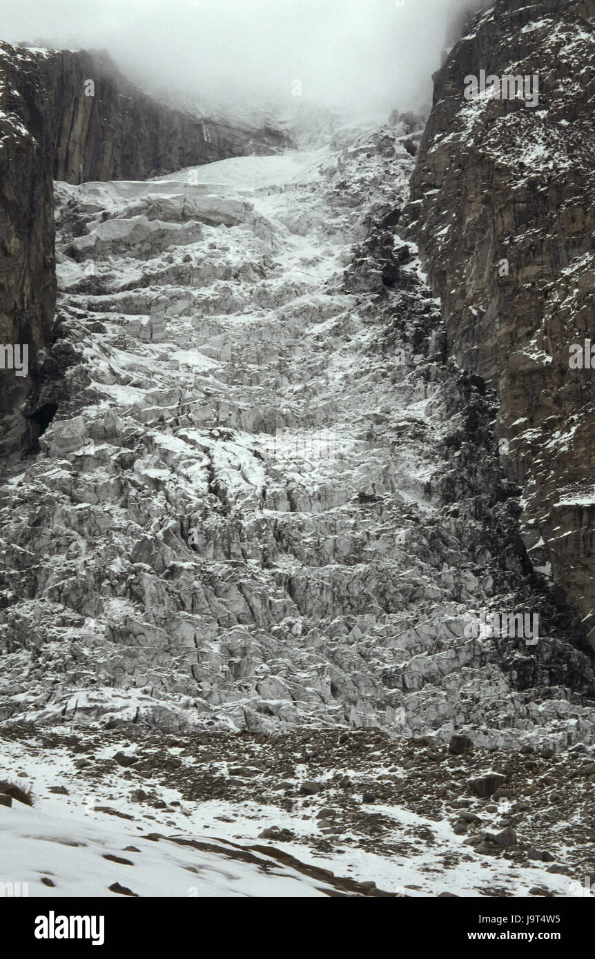 Pakistan,Karimabad,Hunzatal,Hunzagletscher,Asia,mountain,mountains,ice,rock,bile formation,mountains,glacier,the - Stock Image