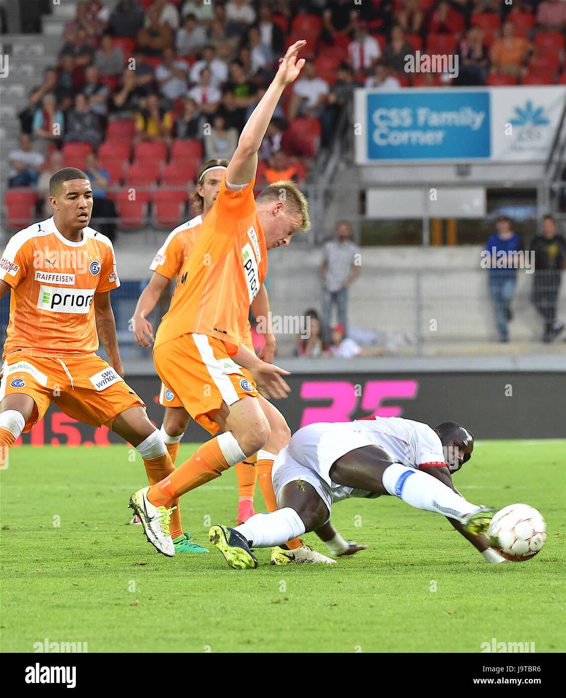 Sion, 02.06.2017, Football Raiffeisen Super League, FC Sion - Grasshoppers Club Zurich, Moussa Konate (FC Sion 14) - Stock Image