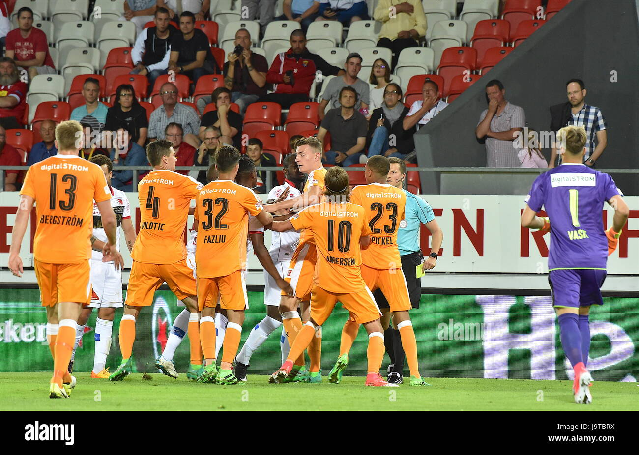 Sion, 02.06.2017, Football Raiffeisen Super League, FC Sion - Grasshoppers Club Zurich, very tense match at the - Stock Image
