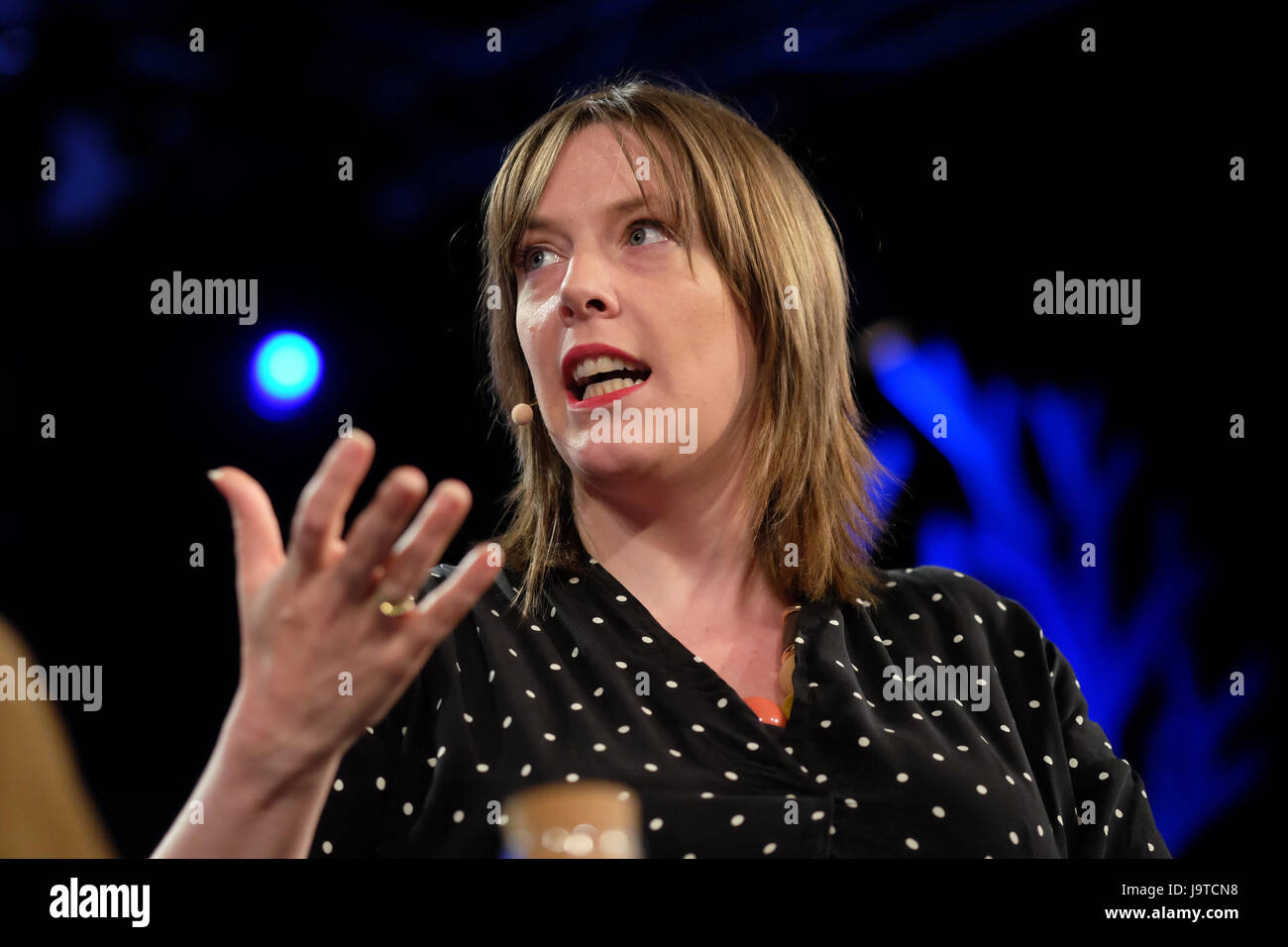 Hay Festival 2017 - Hay on Wye, Wales, UK - June 2017 - Jess Phillips Labour MP on stage at the Hay Festival discussing - Stock Image