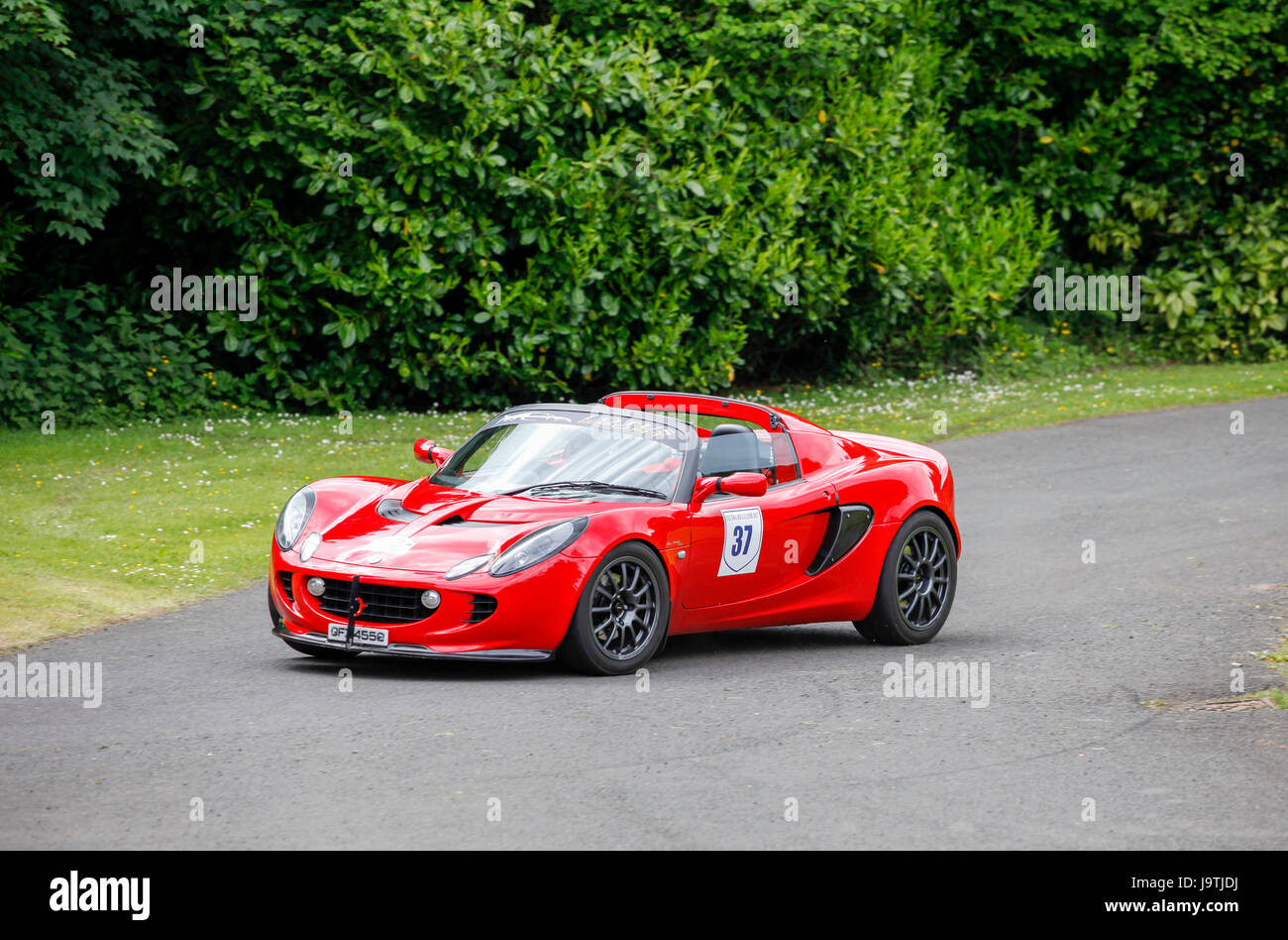 Holywood, Northern Ireland, UK, 3rd June 2017. Cultra Hill Climb is held with the theme -Fast and Furious Fords - Stock Image