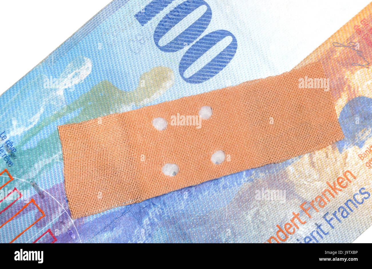 currency weakness - Stock Image