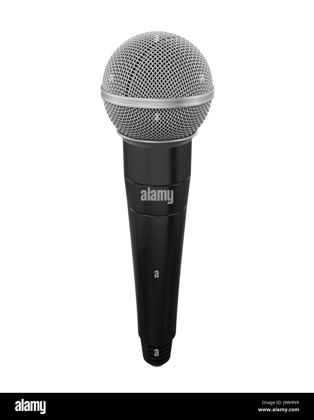 Microphone Isolated - Stock Image