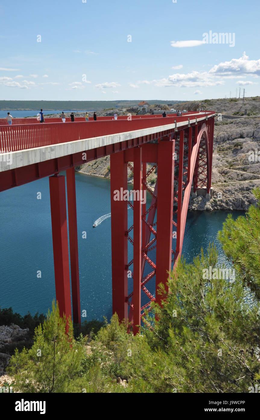 maslenica bridge,croatia Stock Photo