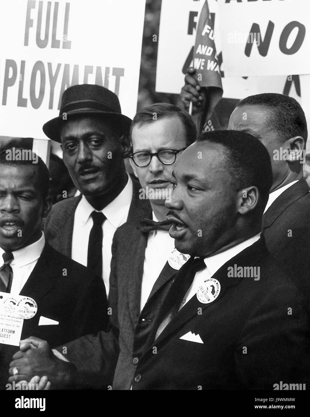 Dr. Martin Luther King, Jr., President of the Southern Christian Leadership Conference, and Mathew Ahmann, Executive - Stock Image
