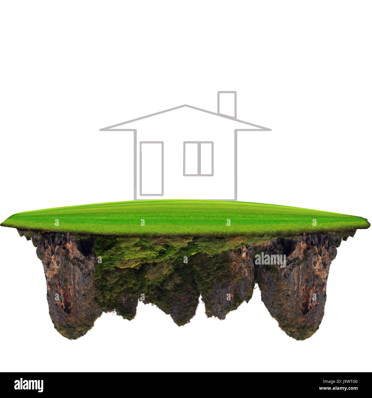 new home on floating land for multipurpose Stock Photo