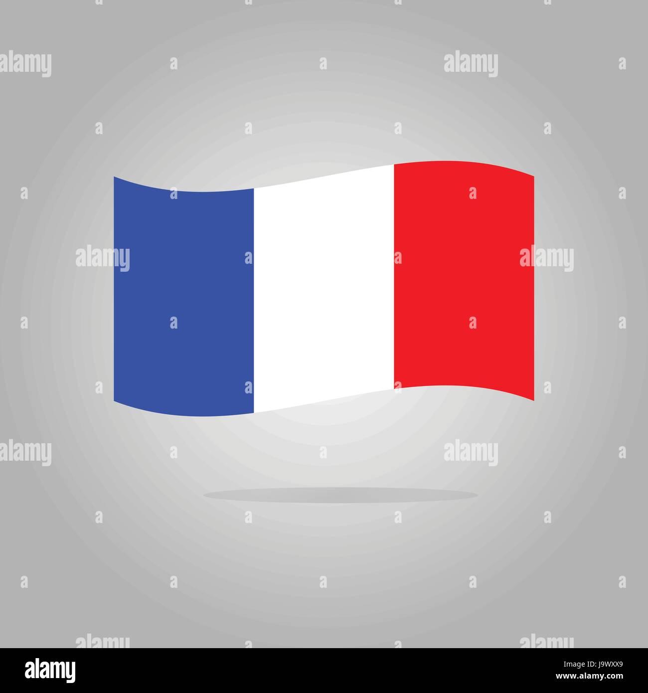 France flag design illustration - Stock Image