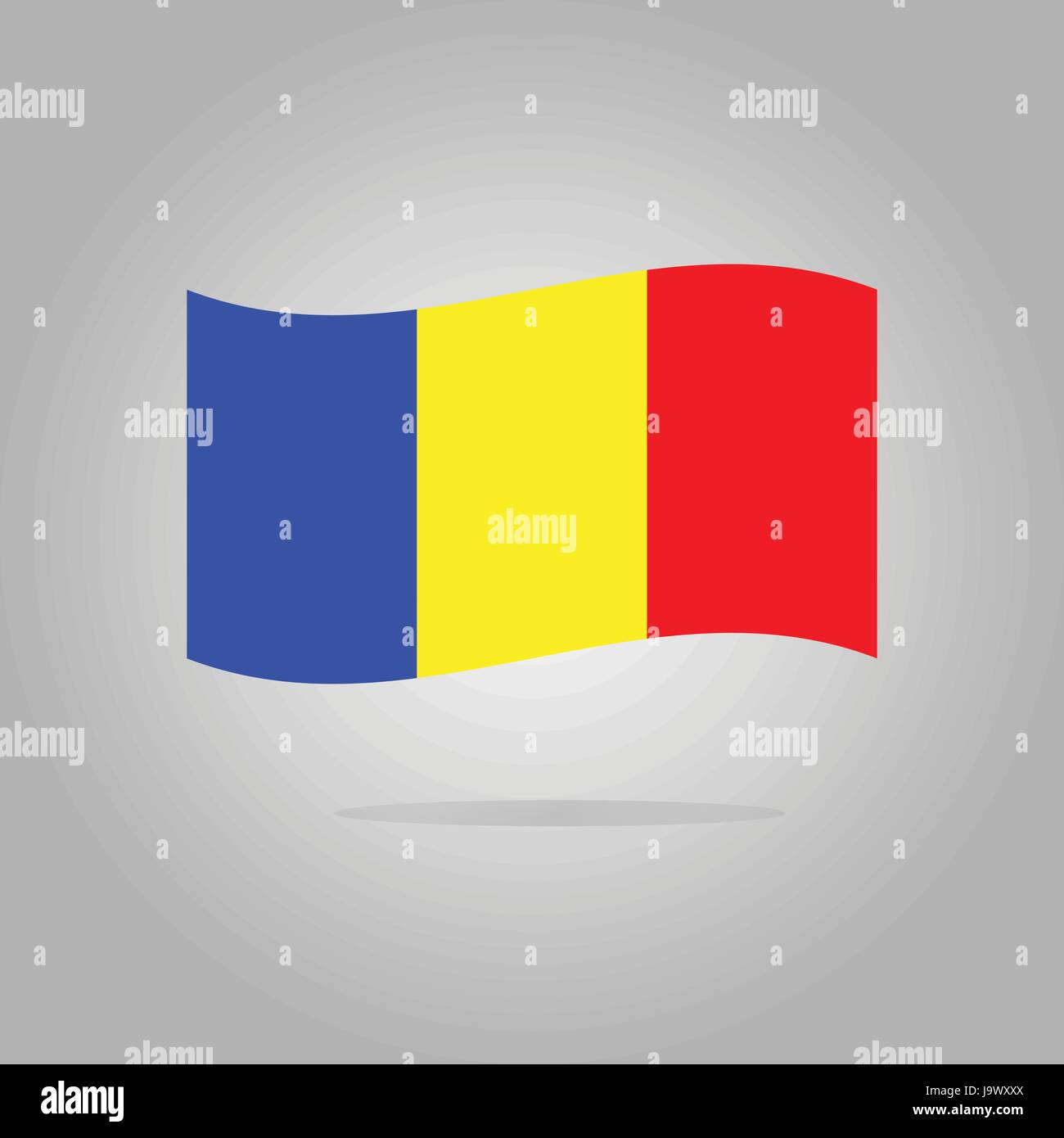 Romania flag design illustration - Stock Image