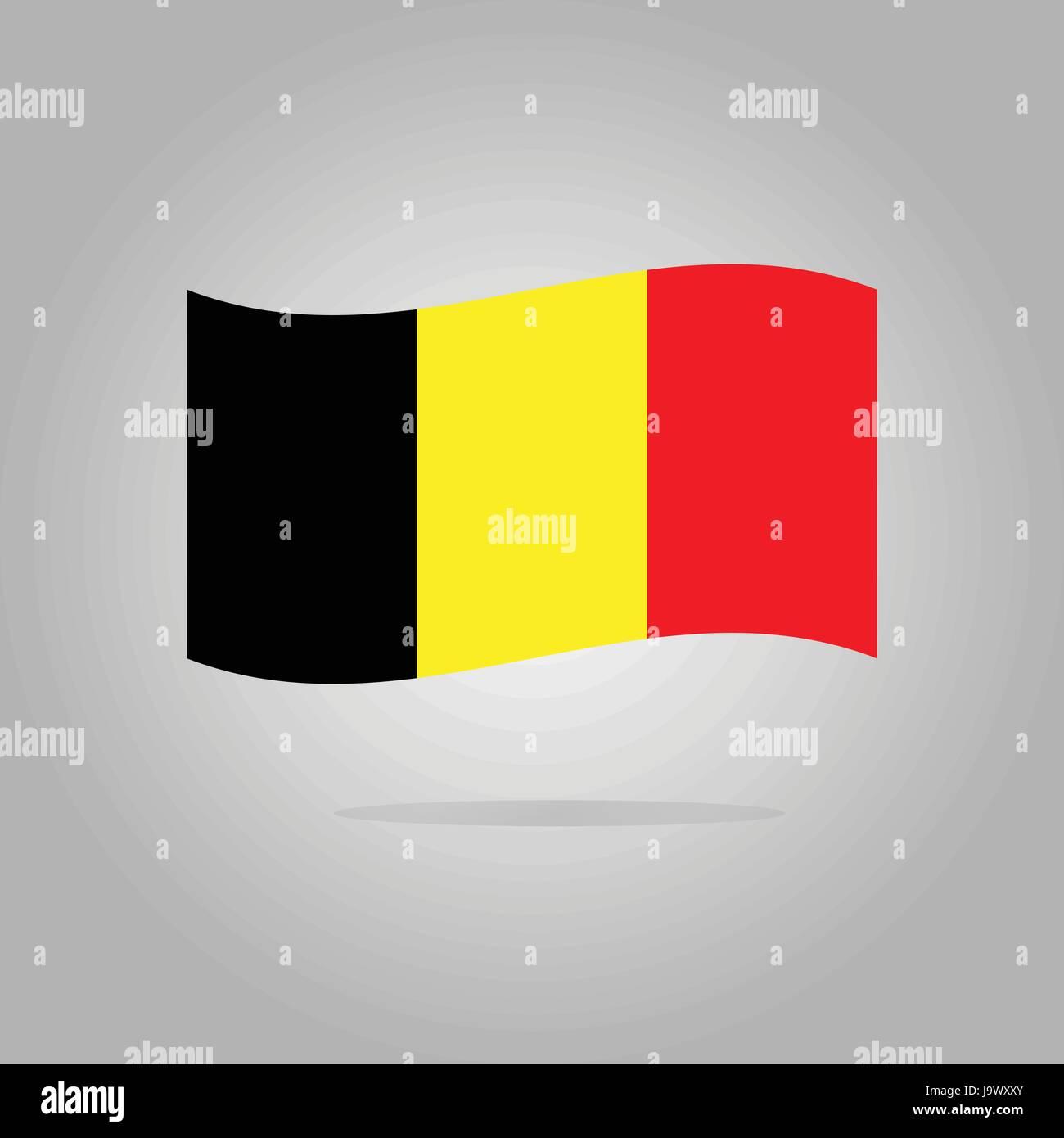 Belgium flag design illustration - Stock Image