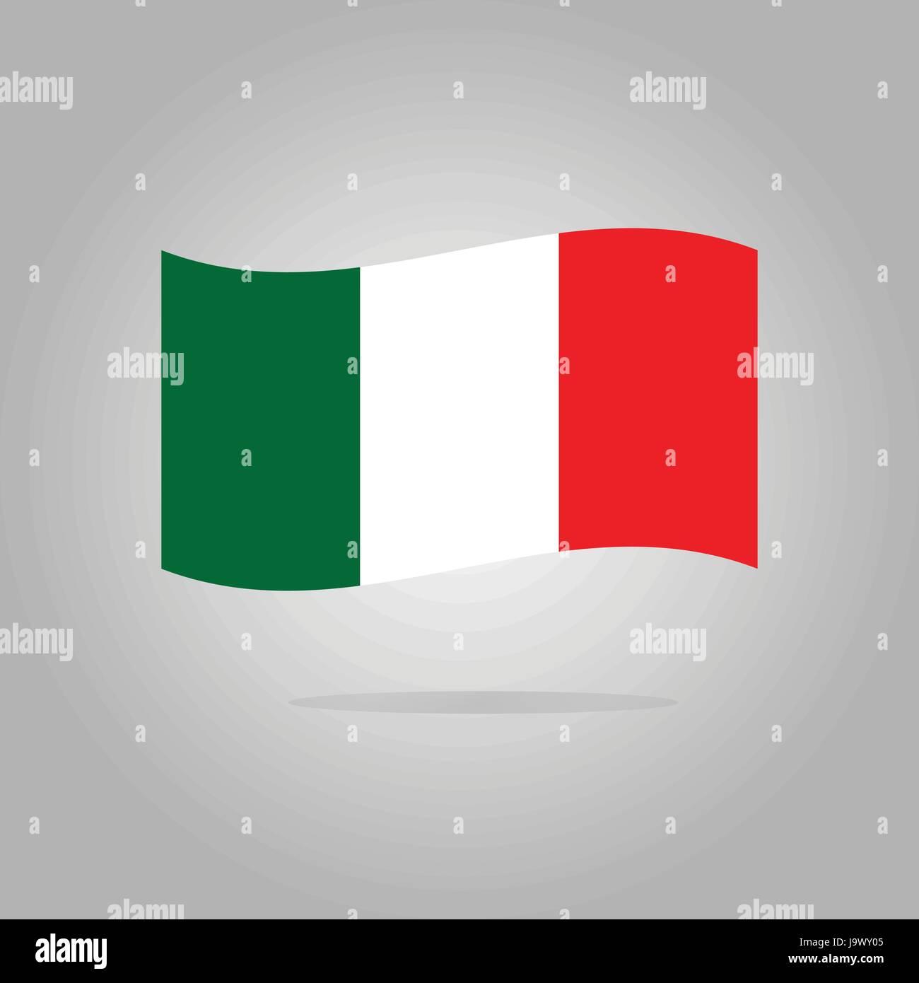 Italy flag design illustration - Stock Image