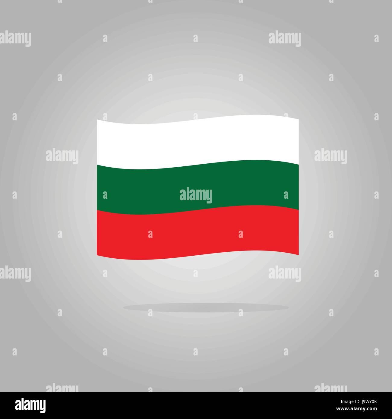 Bulgaria flag design illustration - Stock Image