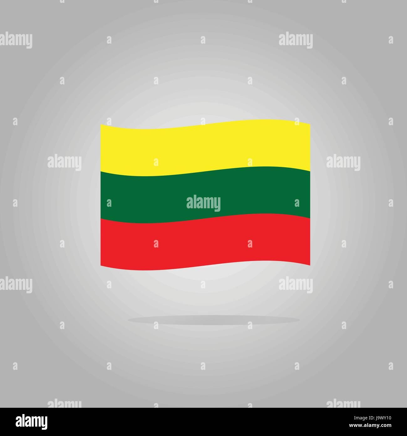 Lithuania flag design illustration - Stock Vector