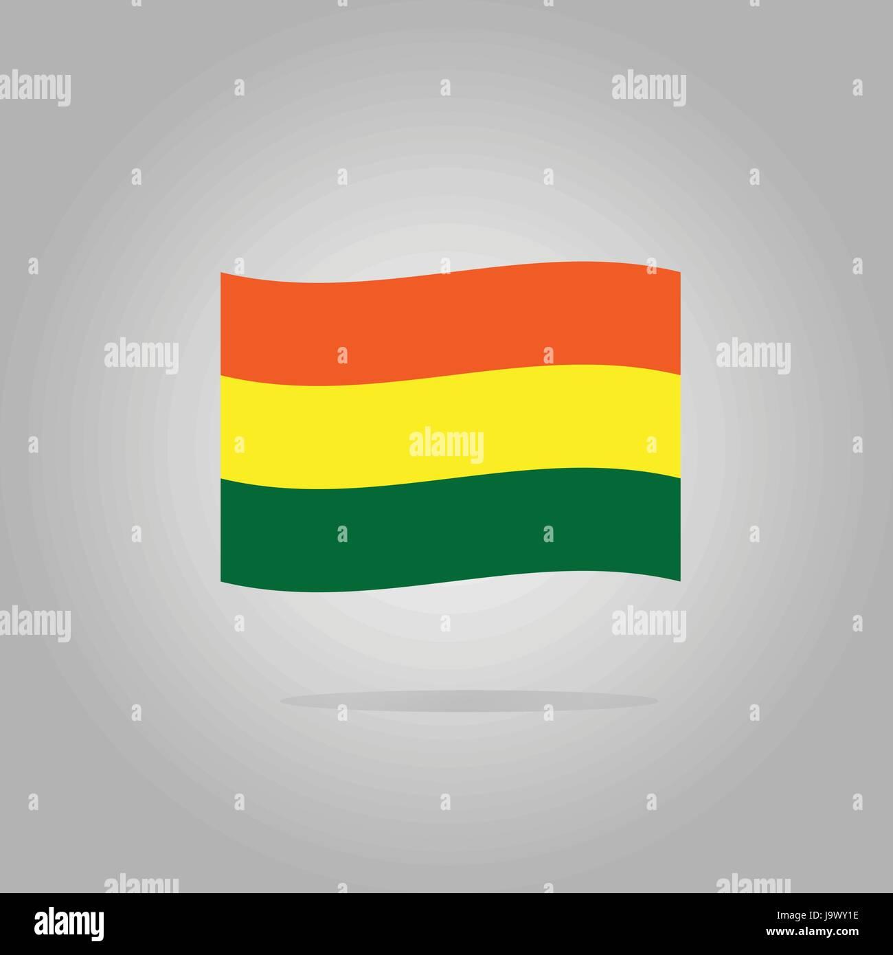 Bolivia flag design illustration - Stock Image