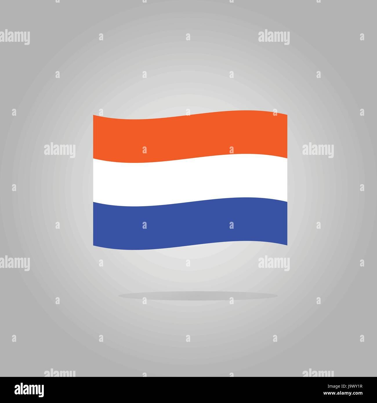 Netherlands flag design illustration - Stock Vector