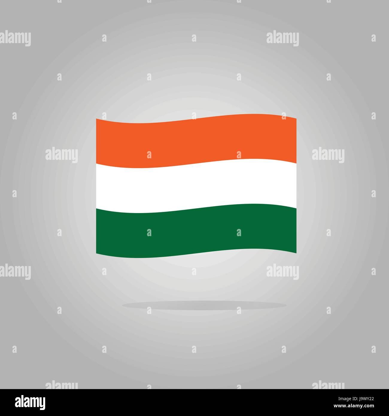Hungary flag design illustration - Stock Vector