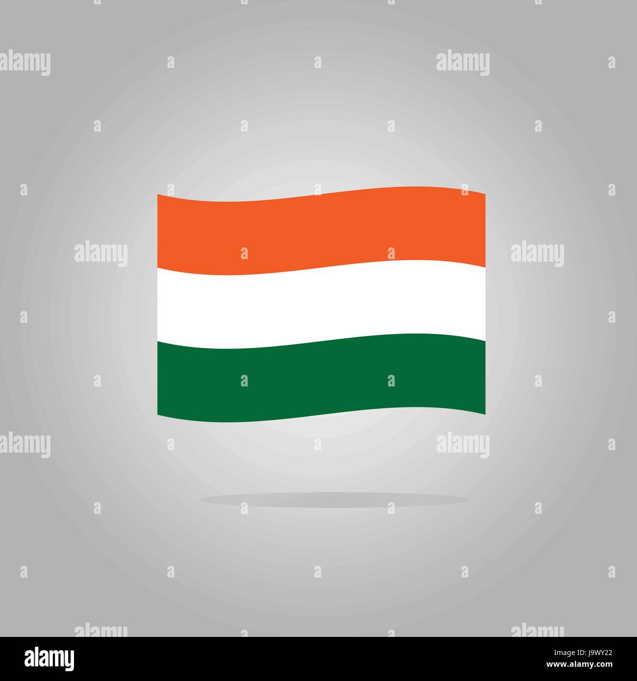 Hungary flag design illustration - Stock Image