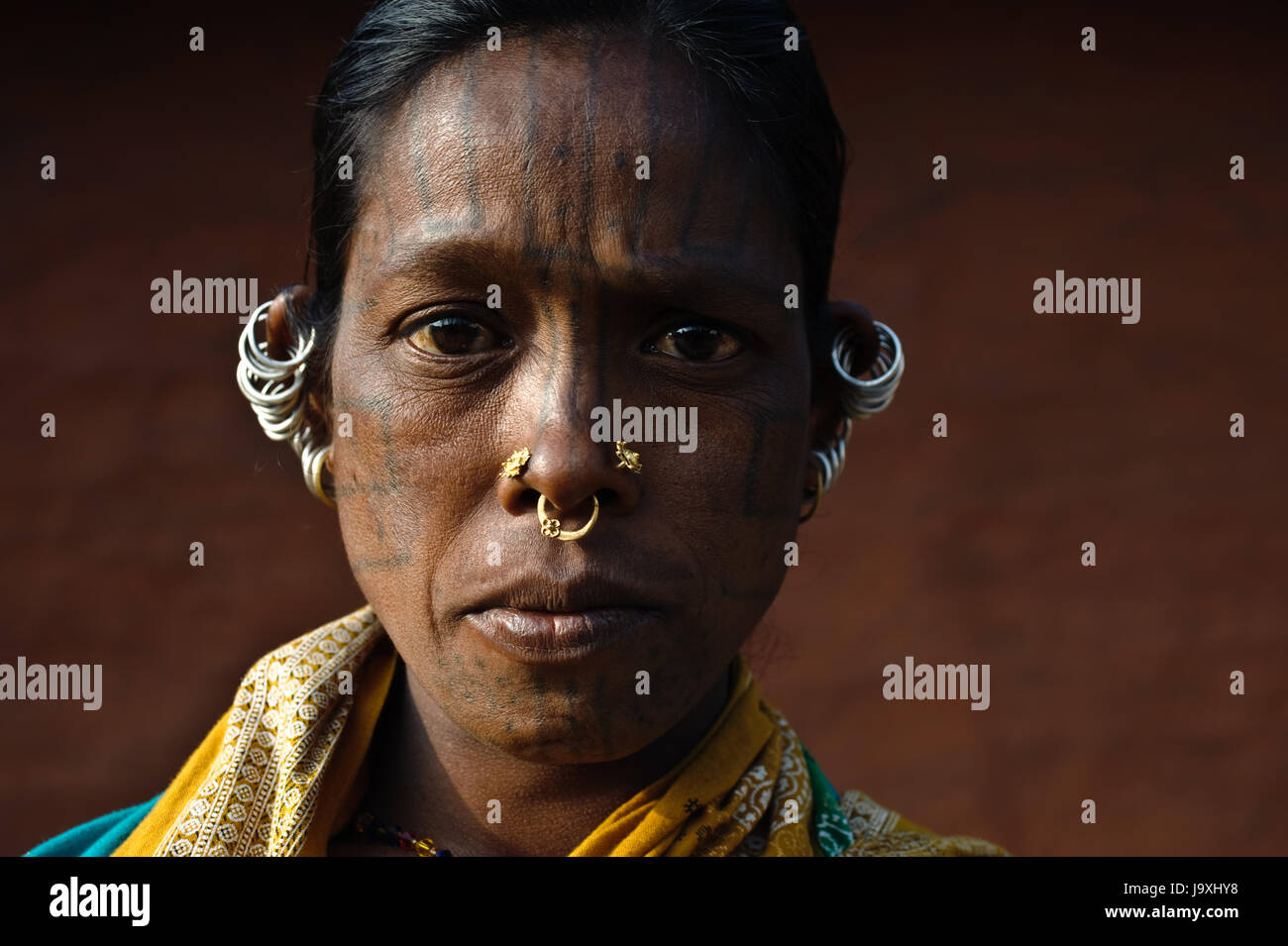 Woman from the Kutia Kondh tribe ( India) - Stock Image