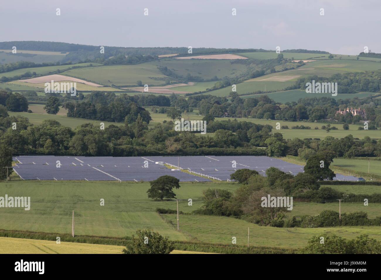 Solar Farm Dorset - Stock Image