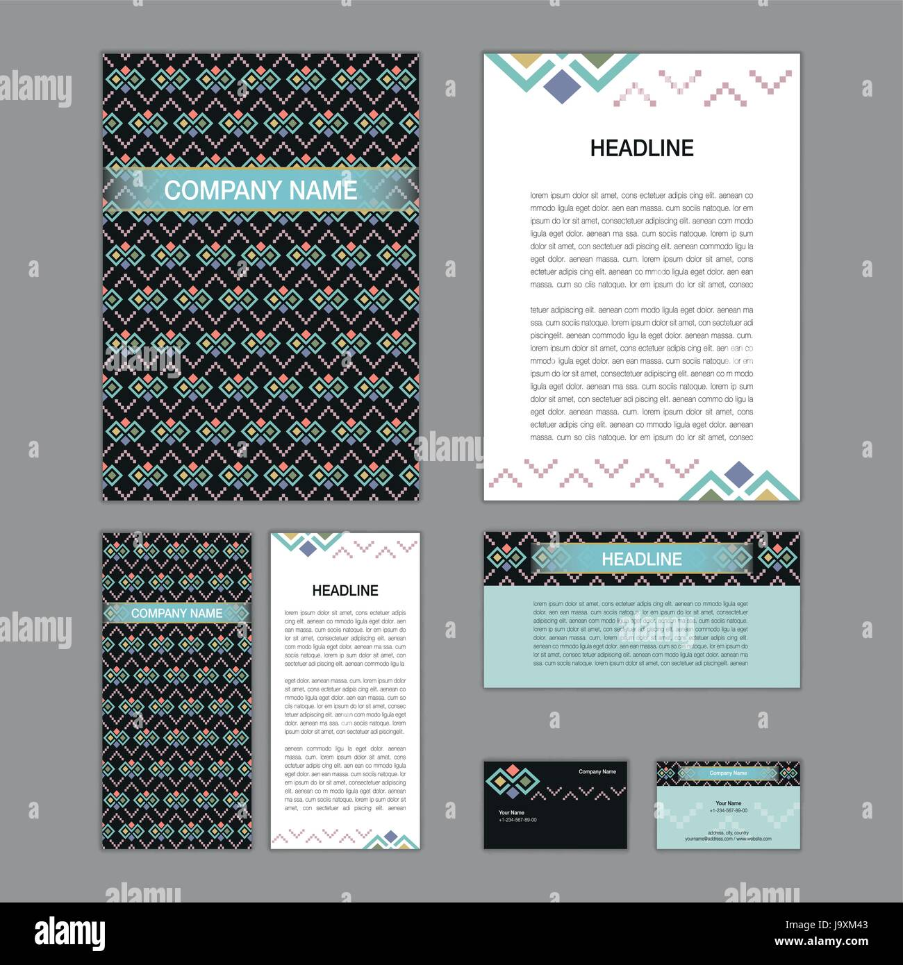 Set of abstract brochure templates. leaflet, banner, flyer, business ...