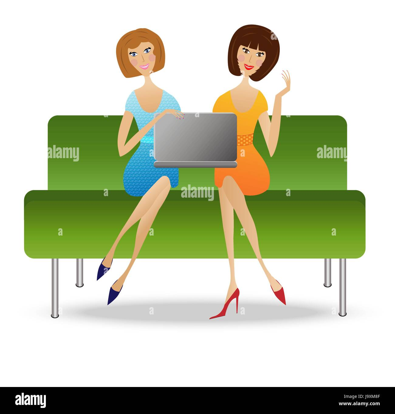 Friends Are Enough Stock Vector Images Alamy