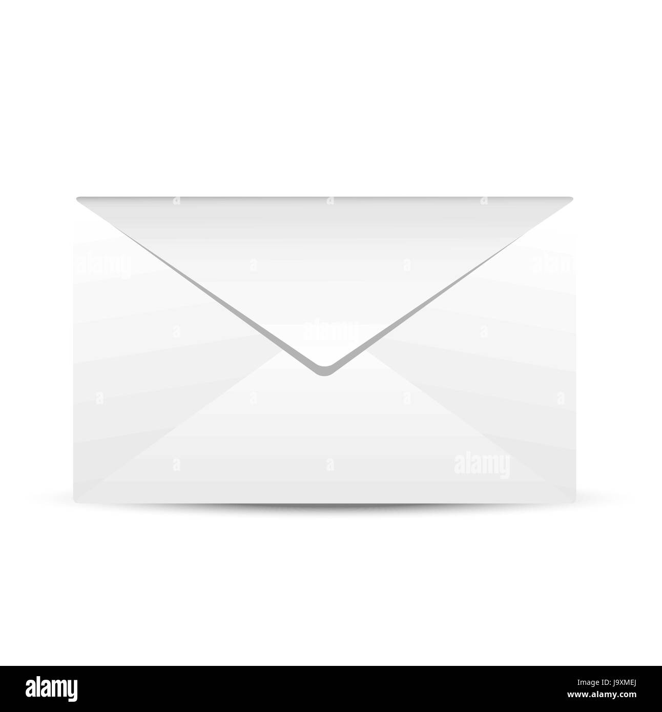 Paper envelope on a white background,  vector  illustration - Stock Image
