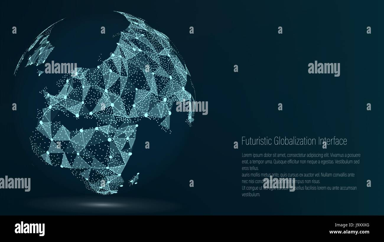 World map point europe vector illustration composition stock world map point europe vector illustration composition representing the global network connection international meaning futuristic digital earth gumiabroncs Images