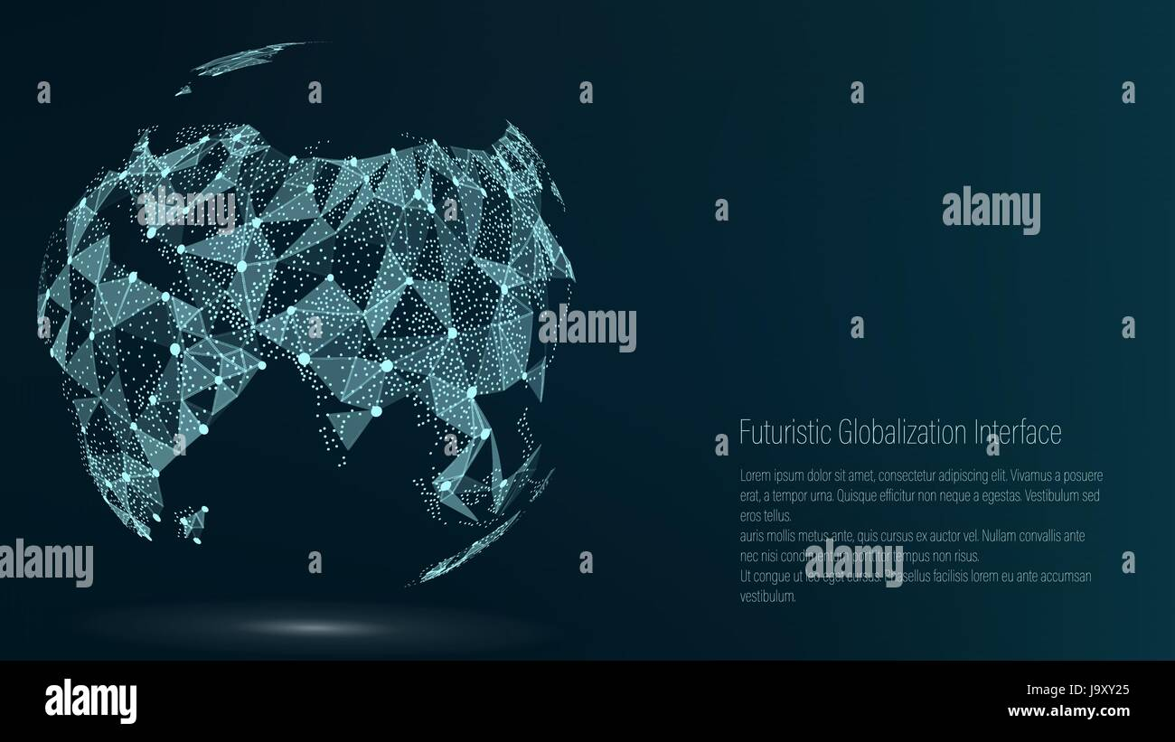 World map point asia vector illustration composition world map point asia vector illustration composition representing the global network connection international meaning futuristic digital earth gumiabroncs Images