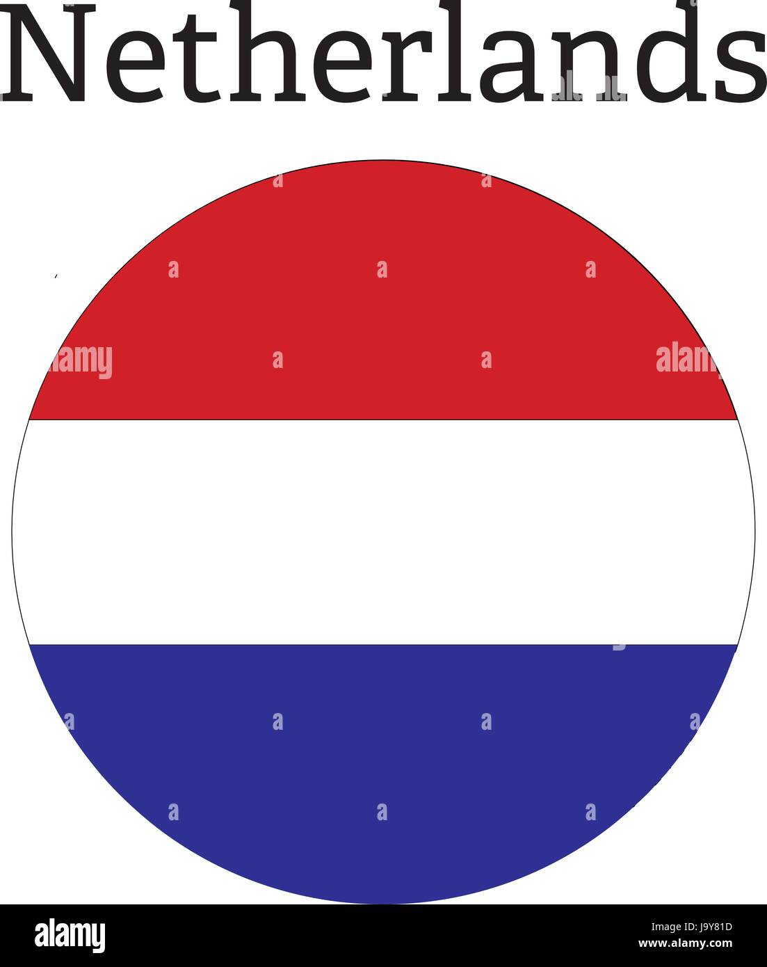Netherlands Flag icon round Button sign symbol - Stock Vector