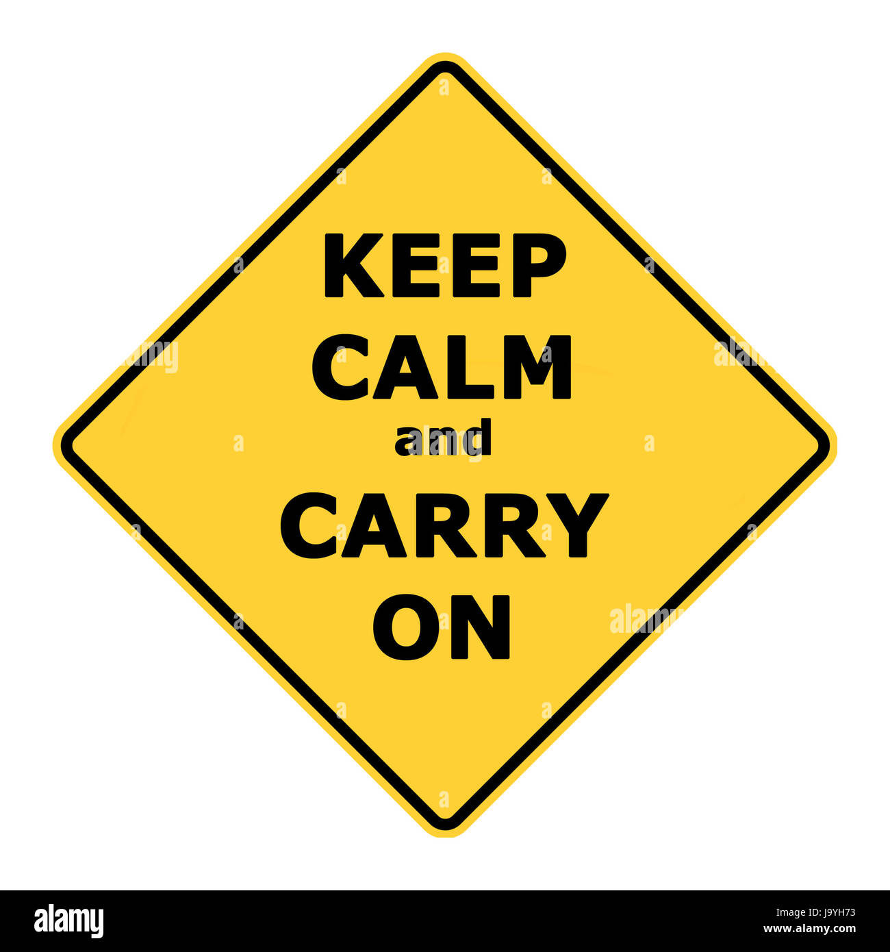 Keep calm and carry on sign isolated on white background Stock Photo ...