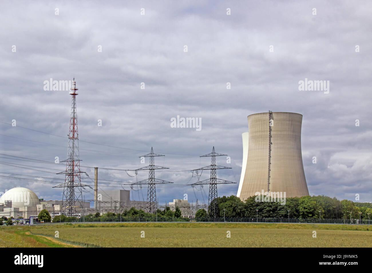 npp philippsburg - Stock Image