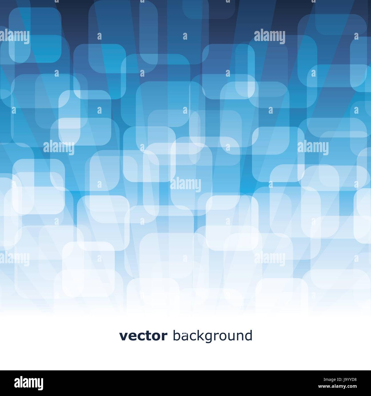Vector 3D Warped Squares On Blue Background Stock Vector