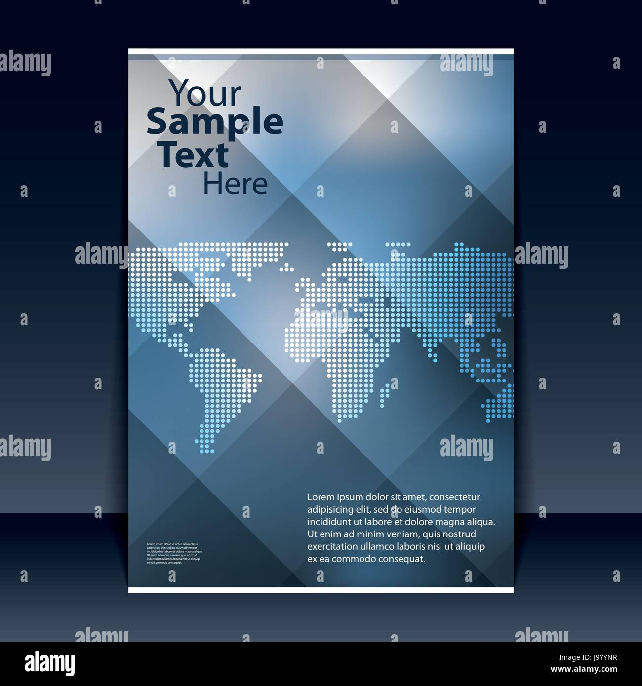 abstract colorful flyer or book cover design with dotted world map and transparent tiles background for business or technology illustration in vector