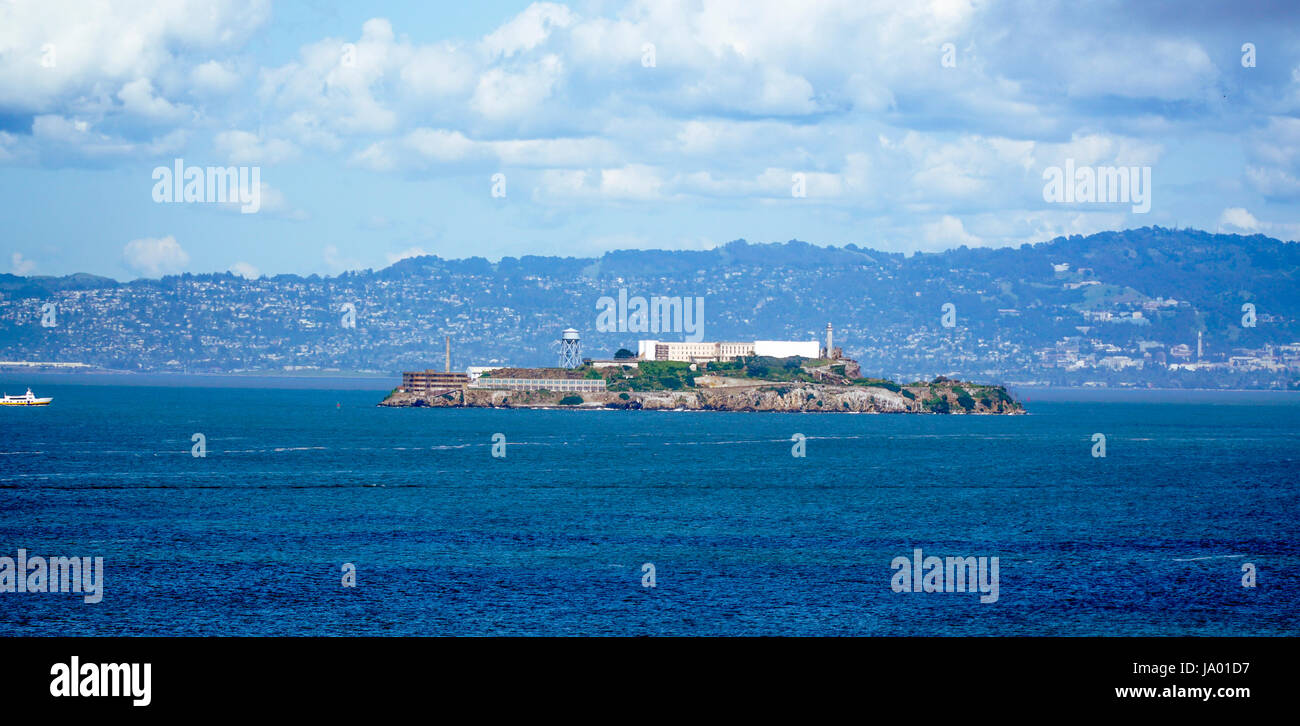 Famous Alcatraz Prison in San Francisco - SAN FRANCISCO - CALIFORNIA - APRIL 18, 2017 - Stock Image