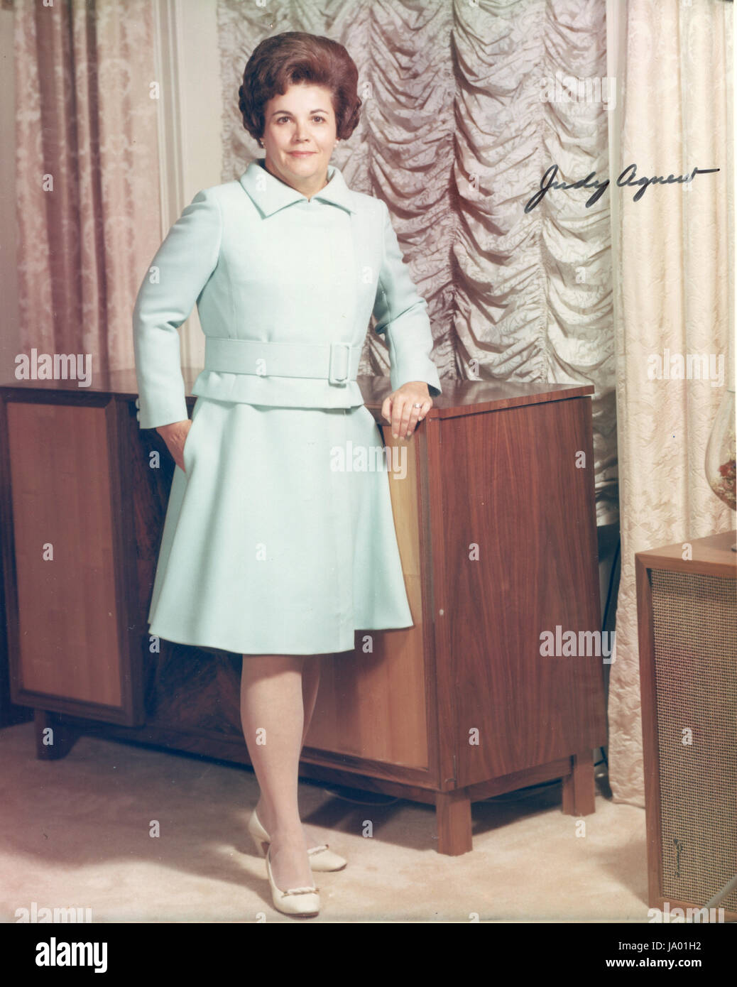 Judy (Mrs. Spiro) Agnew, wife of the Vice-President of the United States, Washington, DC, 01/ 1969. - Stock Image