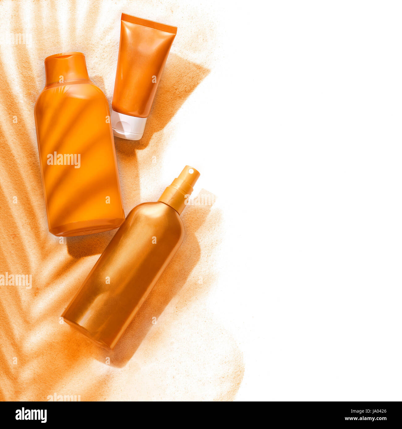 Cosmetics Beauty Care Tan Backdrop Background Skincare Stock Photo Alamy