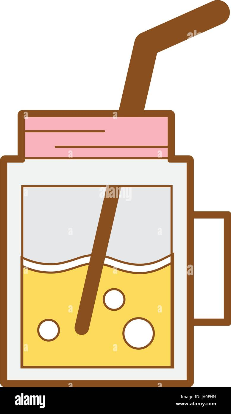 refreshment beverage to hot day in the sun - Stock Vector