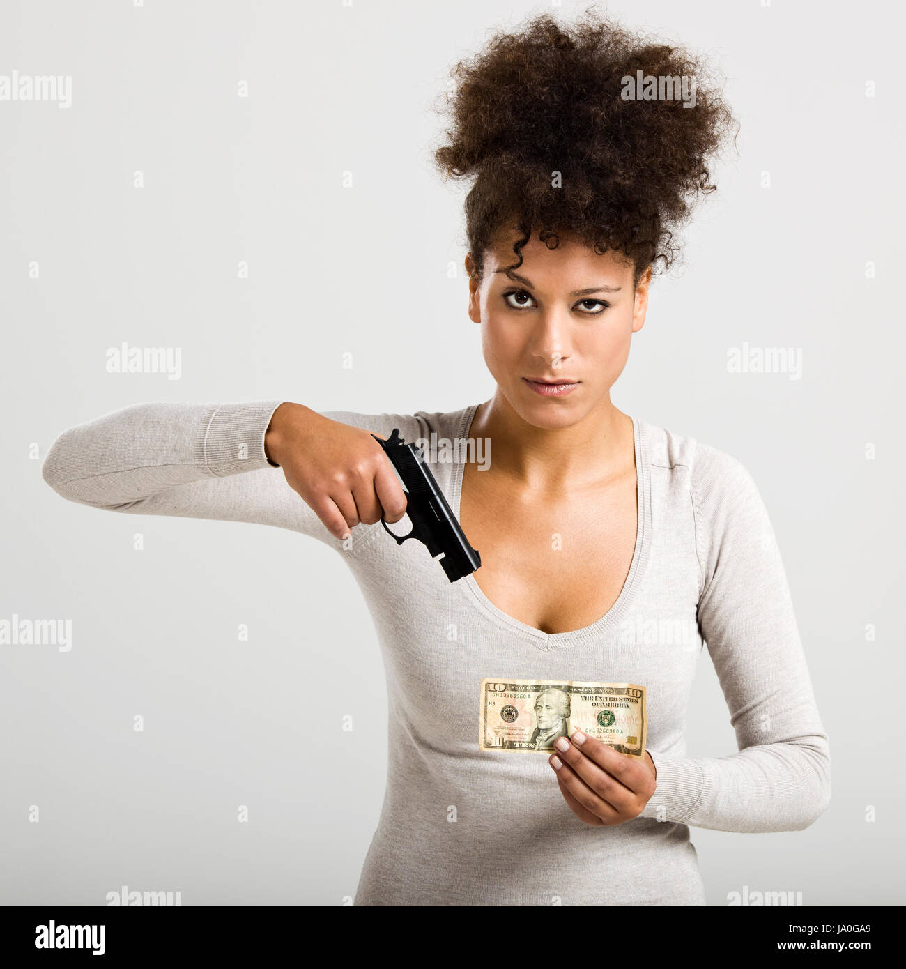 woman, black, swarthy, jetblack, deep black, bad, peccant, wickedly, evil, - Stock Image