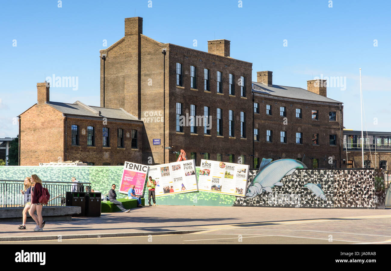 London, England - August 8, 2016: Old London and North Eastern Railway buildings behind King's Cross on the - Stock Image
