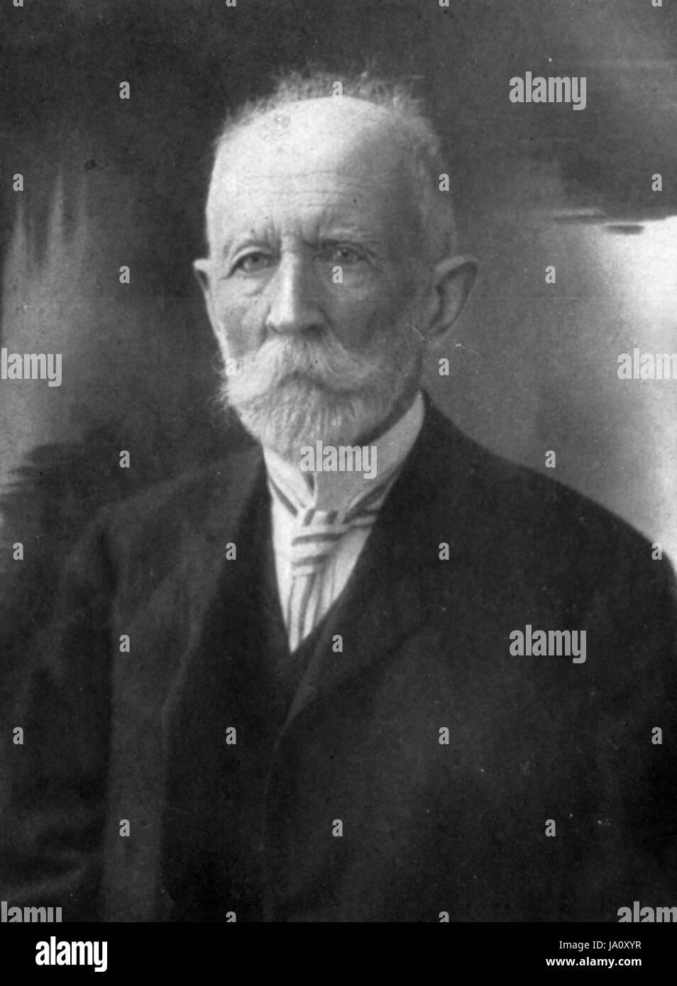 KARL LINDEMANN (1847-1929) German zoologist - Stock Image