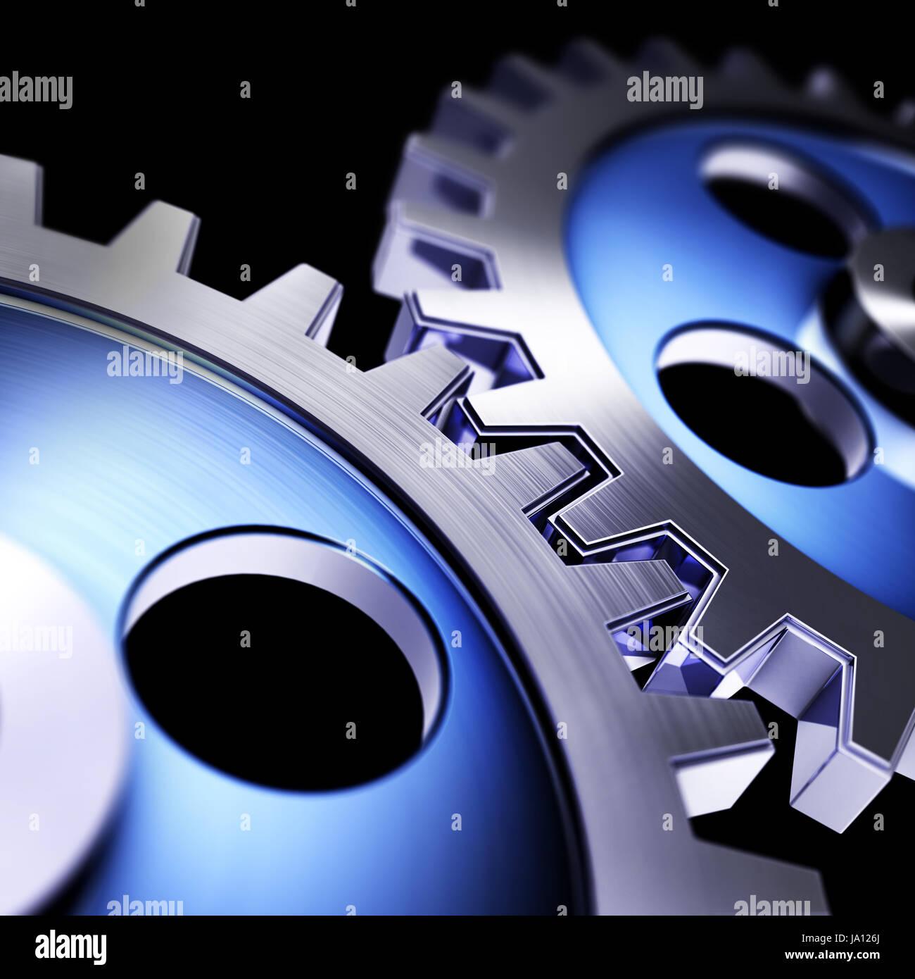 engine, drive, motor, gear, gear wheels, motivation, success, blue, team work, Stock Photo