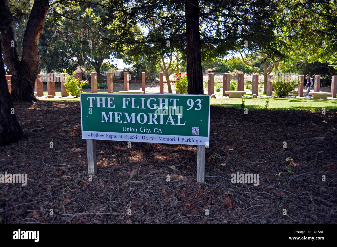 9/11, The Flight 93 Memorial, Union City, California, USA - Stock Image