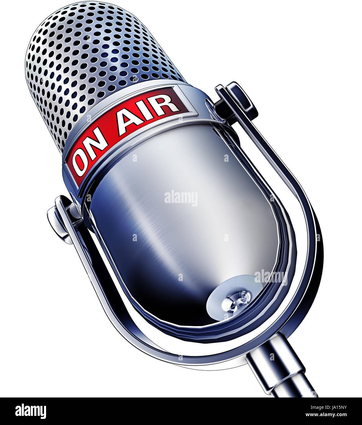 entertainment, music, news, radio, microphone, coverage, sign, signal, talk, Stock Photo