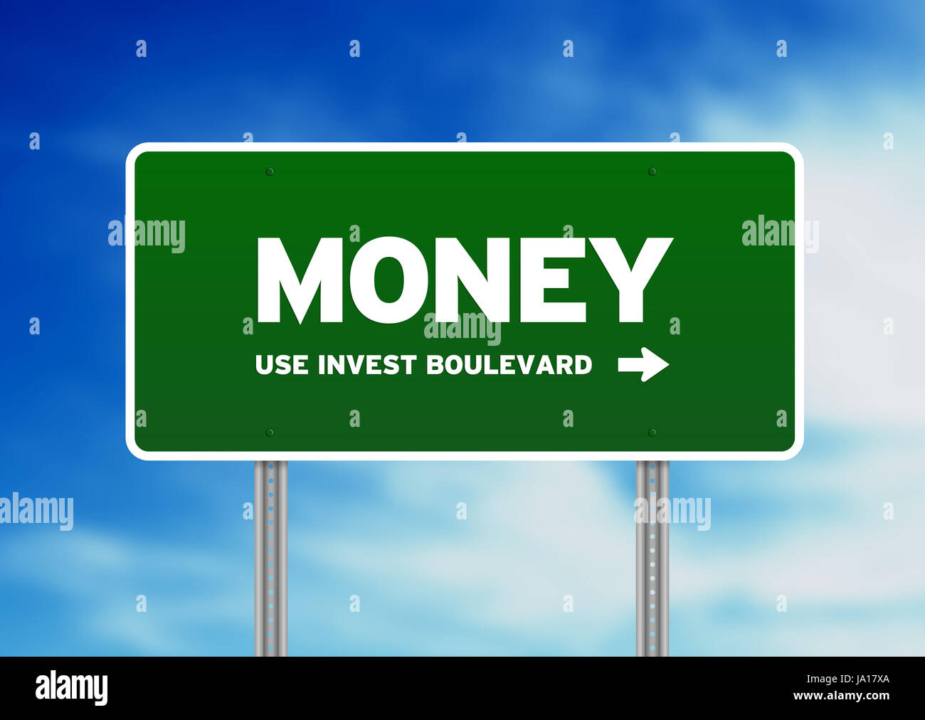 motorway, highway, sign, signal, traffic sign, road, billboard, street, bank, - Stock Image