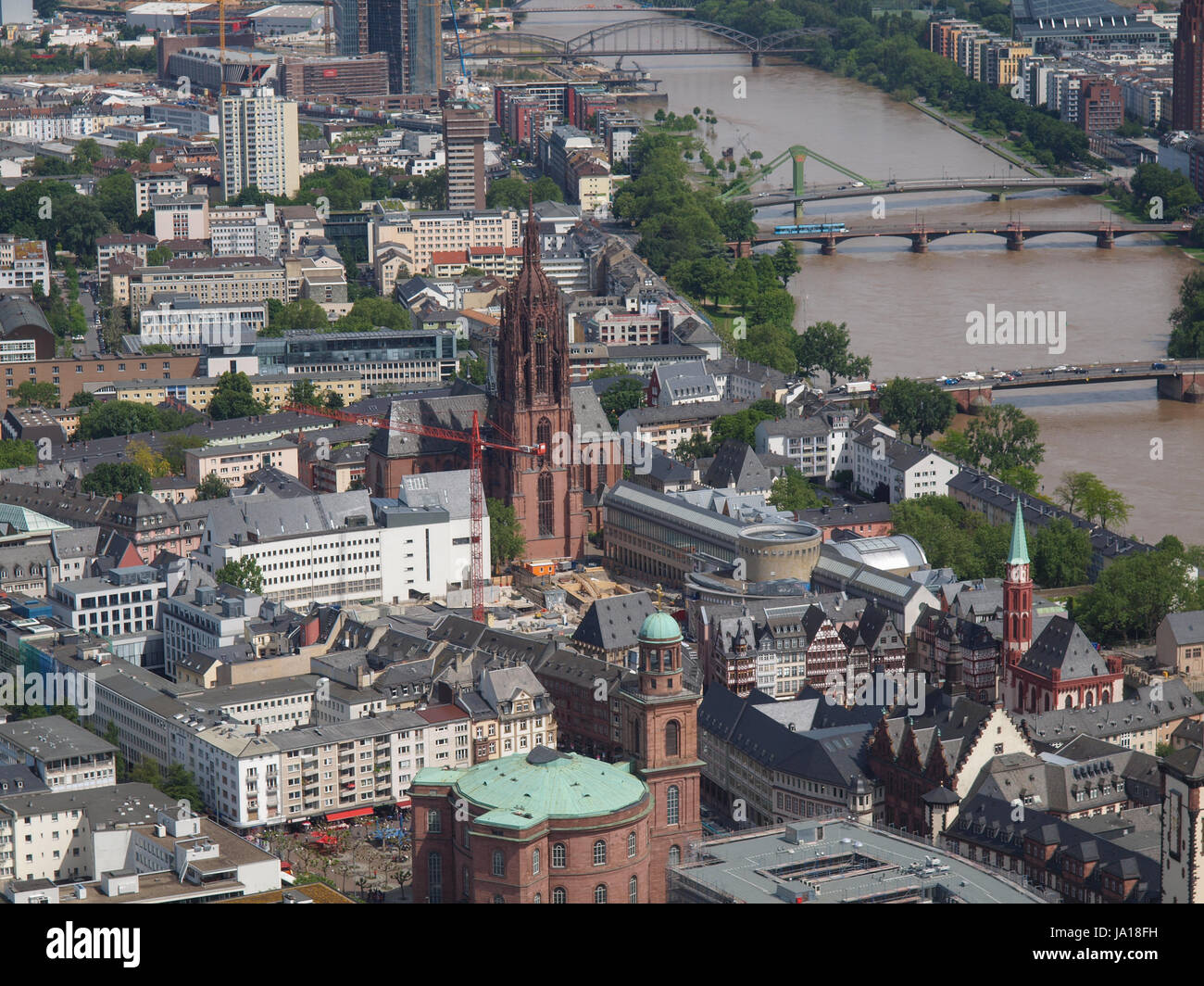 city, town, centre, center, downtown, city, town, germany, german federal - Stock Image
