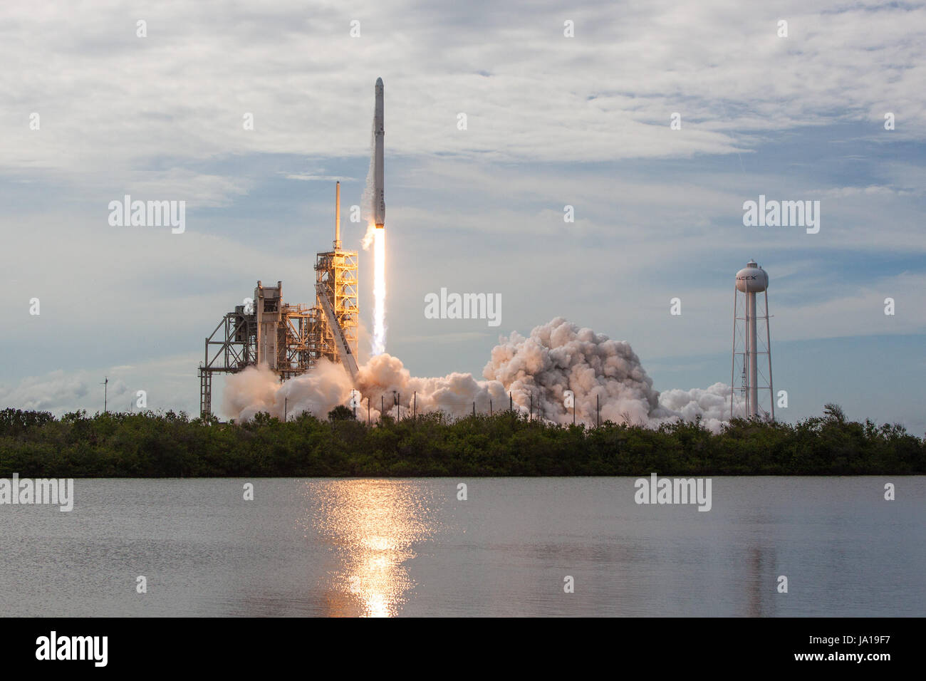 Cape Canaveral, Florida, USA. 3rd June, 2017. The photo made available by U.S. space firm SpaceX on June 3, 2017 - Stock Image