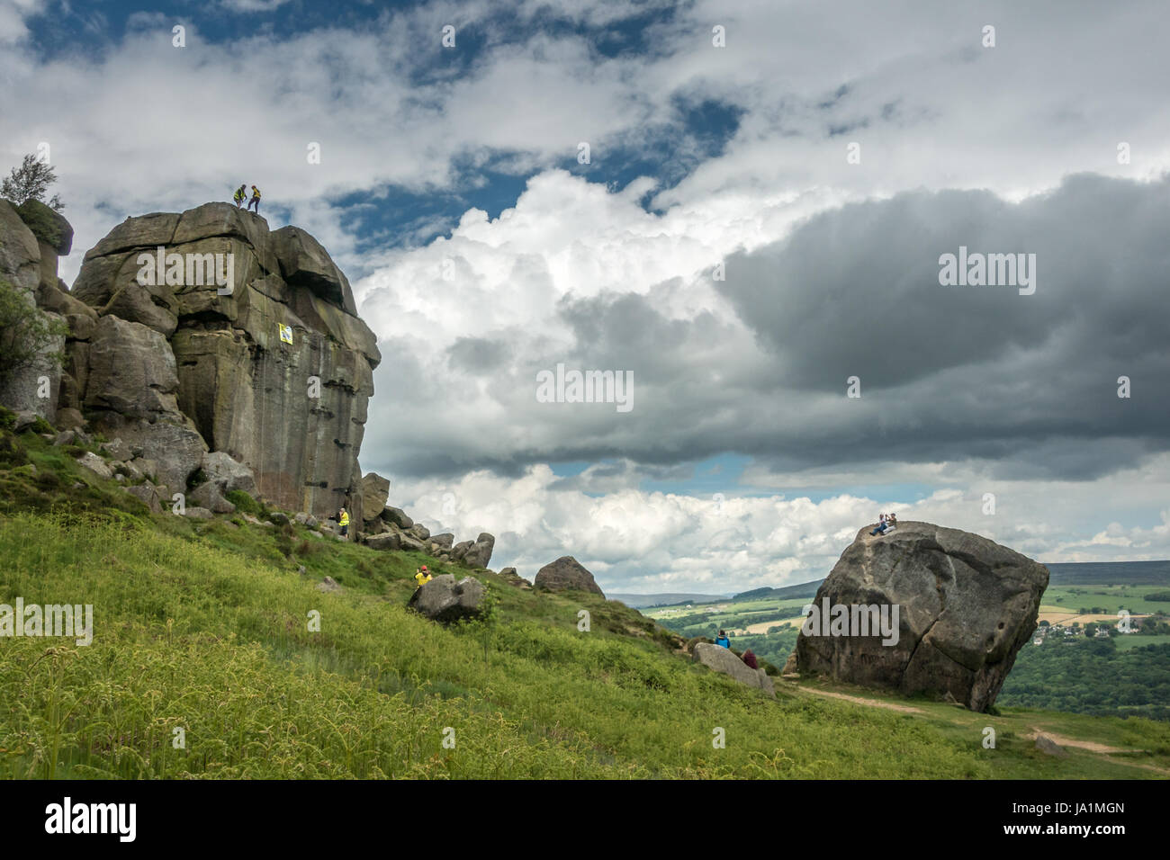 Ilkley, West Yorkshire, UK. 4th June, 2017. Supporters of the Aire Valley Against Incineration group turned out - Stock Image