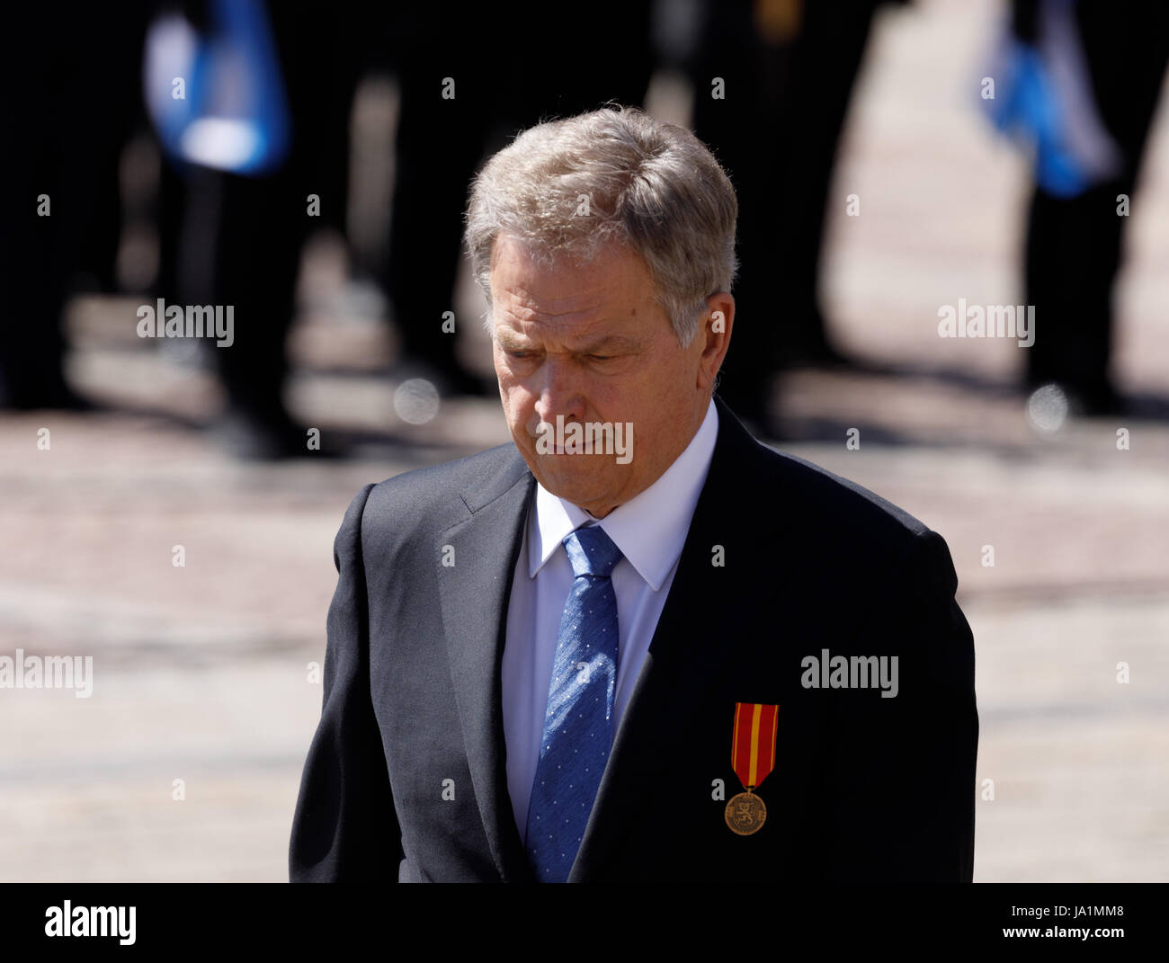 Helsinki, Finland. 4th June, 2017. Sauli Niinistö is the 12th President of the Republic of Finland. Credit: - Stock Image
