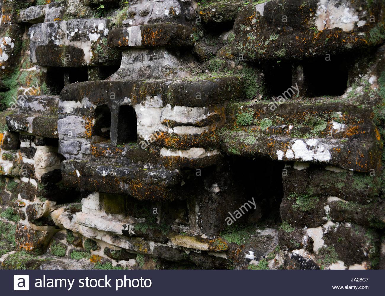 The Mayan ruins of Lamanai, in the Orange Walk district of Belize - Stock Image