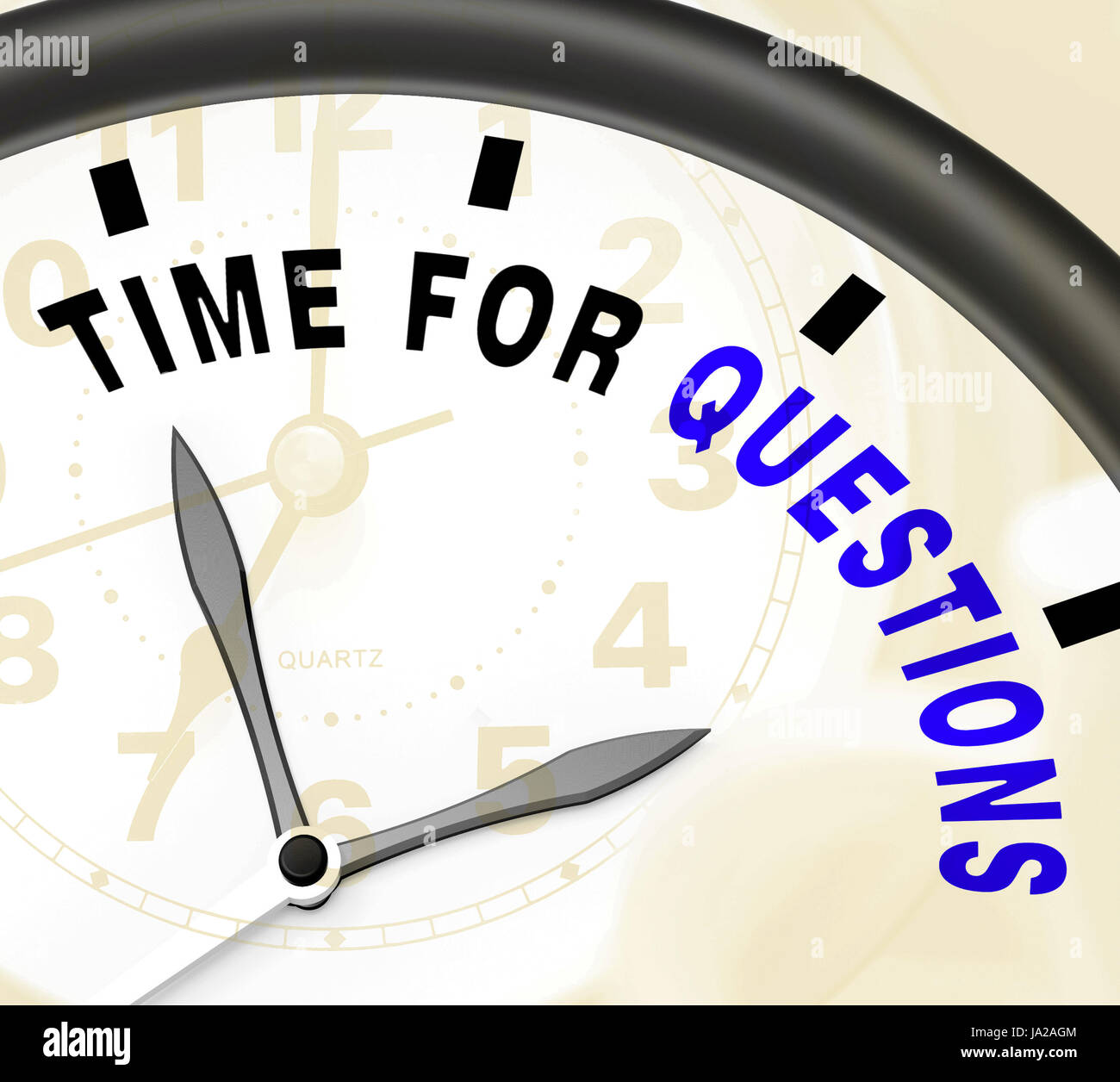 info, date, time, time indication, learn, search, query, asked, ask, question, - Stock Image